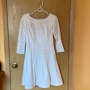 Lily Pulitzer Long Sleeve Eyelet Dress